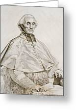 Portrait Of Bishop Persigny Greeting Card