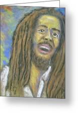 Portrait Of Bob Marley Greeting Card