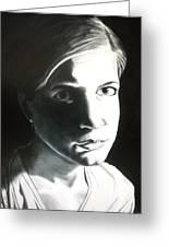 Portrait Of Bridget L. Greeting Card