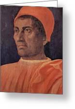 Portrait Of Cardinal Carlo De Medici 1466 Greeting Card