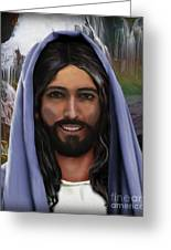 Portrait Of Christ Greeting Card