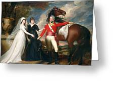 Portrait Of Colonel Fitch And His Sisters Greeting Card