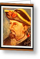 Portrait Of Conrad As British Soldier Greeting Card