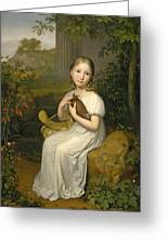 Portrait Of Countess Louise Bose As A Child Greeting Card