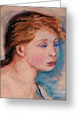 Portrait Of  Country Girl Greeting Card