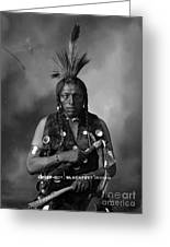 Portrait Of Cree Indian Greeting Card