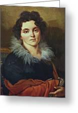 Portrait Of Darya Nikolaevna Chvostova 1814 Greeting Card