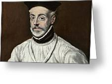 Portrait Of Diego De Covarrubias Y Leiva Greeting Card