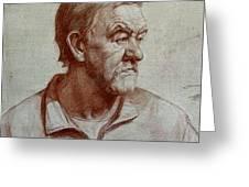 Portrait Of Elderly Man Greeting Card
