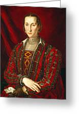 Portrait Of Eleanora Di Toledo Greeting Card