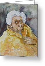 Portrait Of Eudora Welty   Greeting Card
