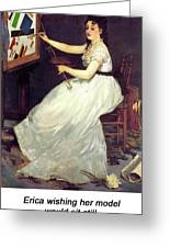 Portrait Of Eva Gonzales 1870 Greeting Card