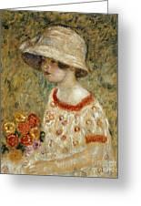 Portrait Of Frances Kilmer Greeting Card