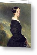 Portrait Of Francisca Caroline De Braganca Greeting Card by Franz Xaver Winterhalter