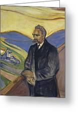 Portrait Of Friedrich Nietzsche Greeting Card