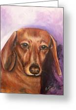 Portrait Of Fritz - Commissions Accepted Greeting Card