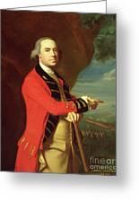 Portrait Of General Thomas Gage Greeting Card