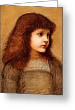 Portrait Of Gertie Lewis Greeting Card