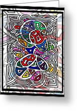 Portrait Of Giggling Colors Greeting Card