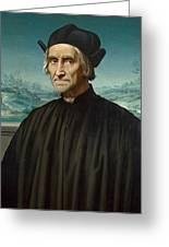 Portrait Of Girolamo Benivieni Greeting Card
