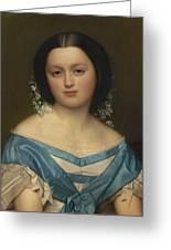 Portrait Of Henriette Mayer Van Den Bergh, At And By Jozef Van Lerius Greeting Card