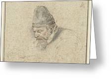 Portrait Of Henry Avercamp Greeting Card