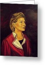 Portrait Of Hillary Clinton Greeting Card by Ricardo Santos-alfonso