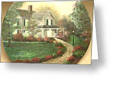 Portrait Of Home Greeting Card