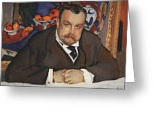 Portrait Of Ivan Morozov 1910 Valentin Serov Greeting Card