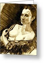 Portrait Of Jacqueline Greeting Card