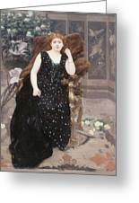 Portrait Of Jane Hading , Alfred Roll Greeting Card