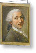 Portrait Of Jean Claude Gaspard Greeting Card