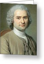 Portrait Of Jean Jacques Rousseau Greeting Card