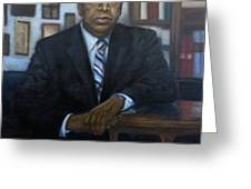 Portrait Of John Lewis Greeting Card