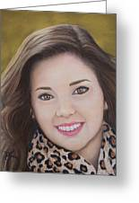 Portrait Of Kaitlyn Greeting Card