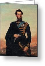 Portrait Of Karl Xv In Uniform Greeting Card