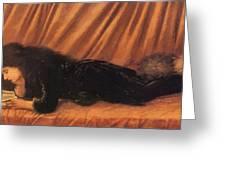 Portrait Of Katie Lewis Greeting Card