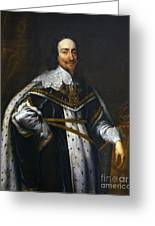 Portrait Of King Charles I After Van Dyck Greeting Card