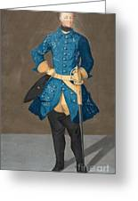 Portrait Of King Karl Xii Of Sweden Greeting Card
