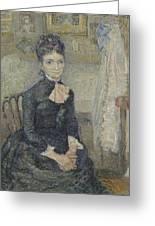 Portrait Of Leonie Rose Charbuy-davy Paris  March  April 1887 Vincent Van Gogh 1853  1890 Greeting Card