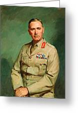 Portrait Of Lieutenant - General The Honorable Sir Edmund Herring Greeting Card