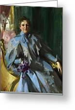 Portrait Of Lilly Eberhard Anheuser Anders Zorn Greeting Card