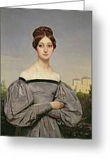 Portrait Of Louise Vernet Greeting Card