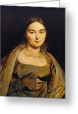 Portrait Of Madame Ingres Greeting Card