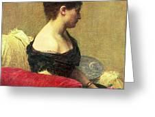 Portrait Of Madame Maitre Greeting Card by Ignace Henri Jean Fantin Latour