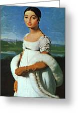 Portrait Of Mademoiselle Riviae 1805 Greeting Card