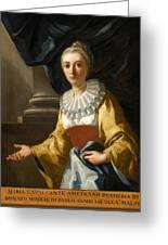 Portrait Of Maria Cavalcanti Ametrano Duchess Of San Donato Greeting Card