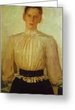 Portrait Of Maria Tolstaya Leo Tolstoy Daughter Greeting Card