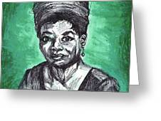 Portrait Of Maya Angelou Greeting Card