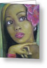 Portrait Of Monica Greeting Card